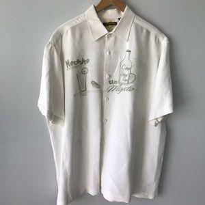 """MEN's CUBAVERA Off White Linen Shirt """"Mojito"""" XXL"""